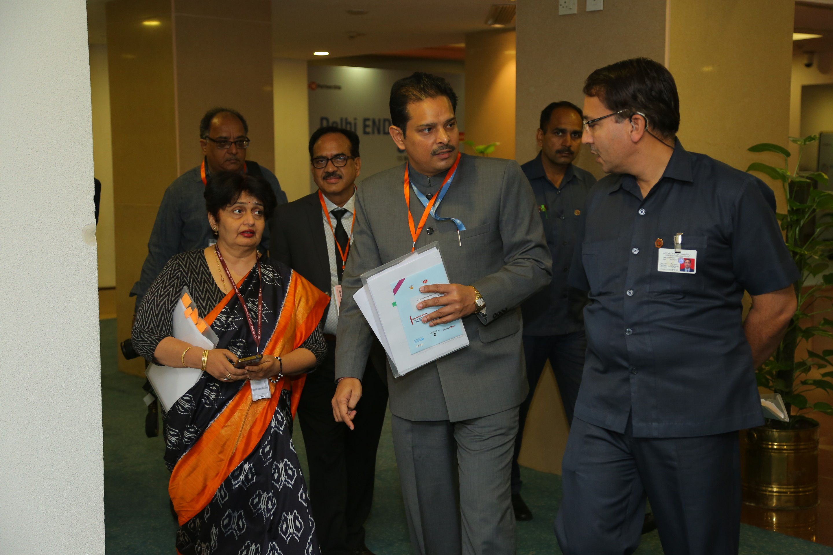 Secretary Health (GOI) supervising the Vigyan Bhawan