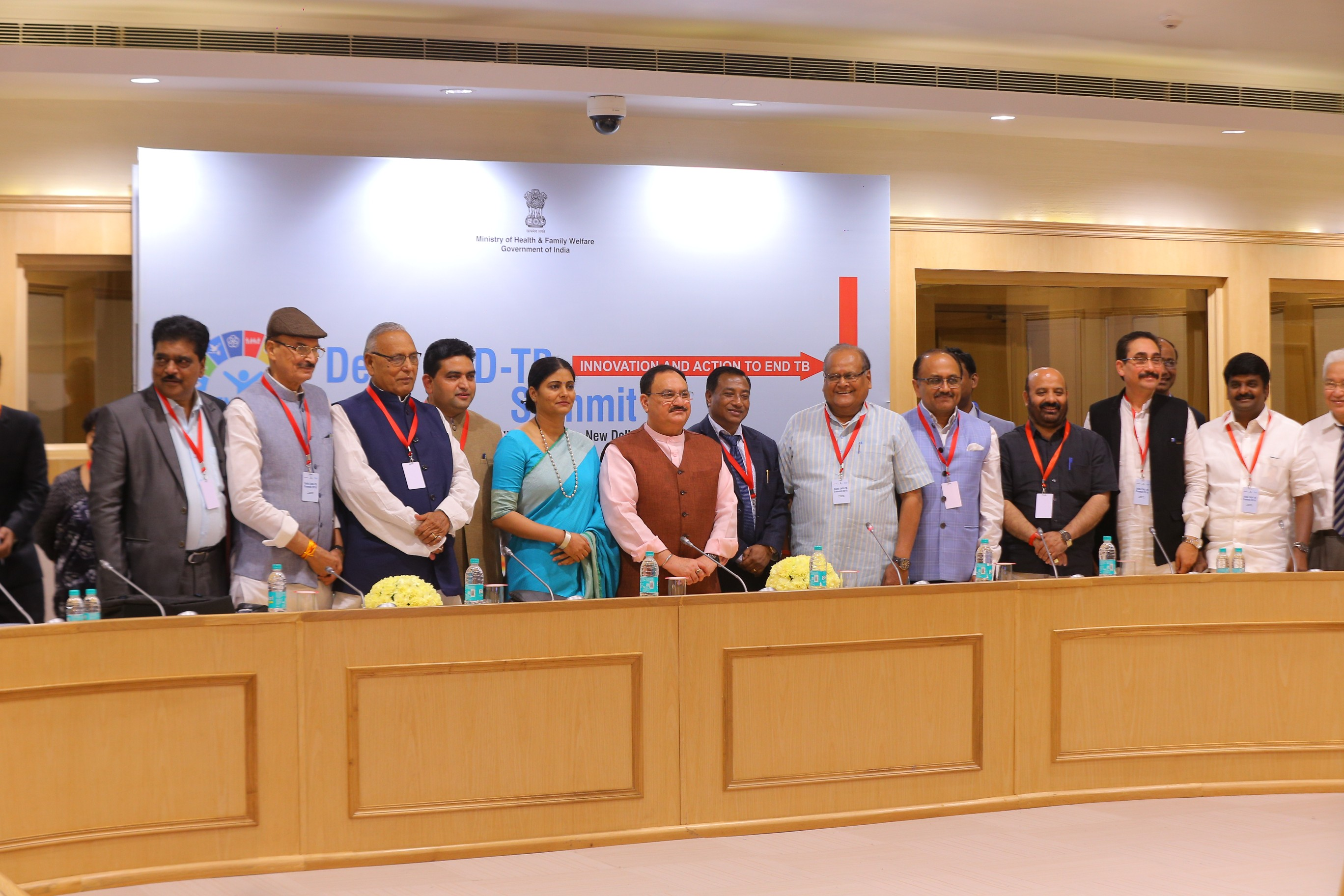 Minister MoHFW review the action taken on tuberculosis with State Health Minister in side meetings at Vigyan Bhawan (13th March 2018)