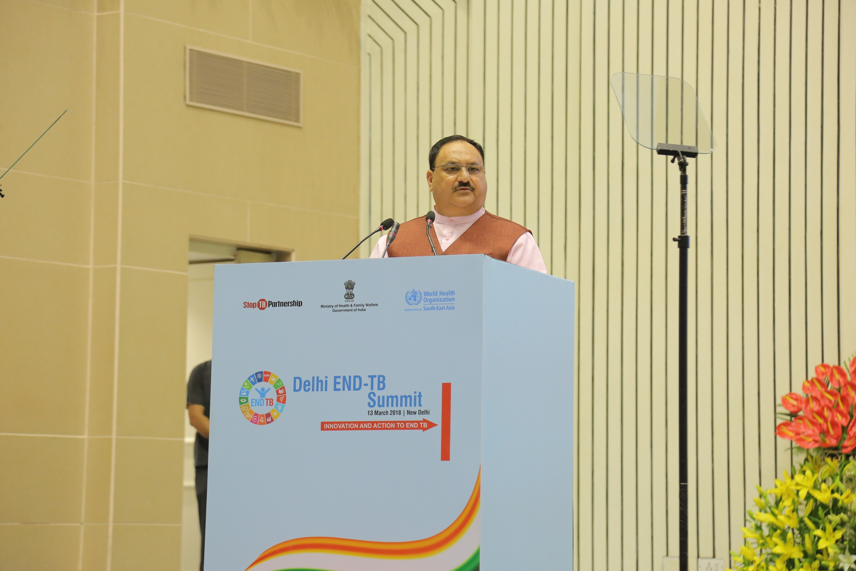 Hon'ble Minister MoHFW addresses on 13th March 2018 at Vigyan Bhawan