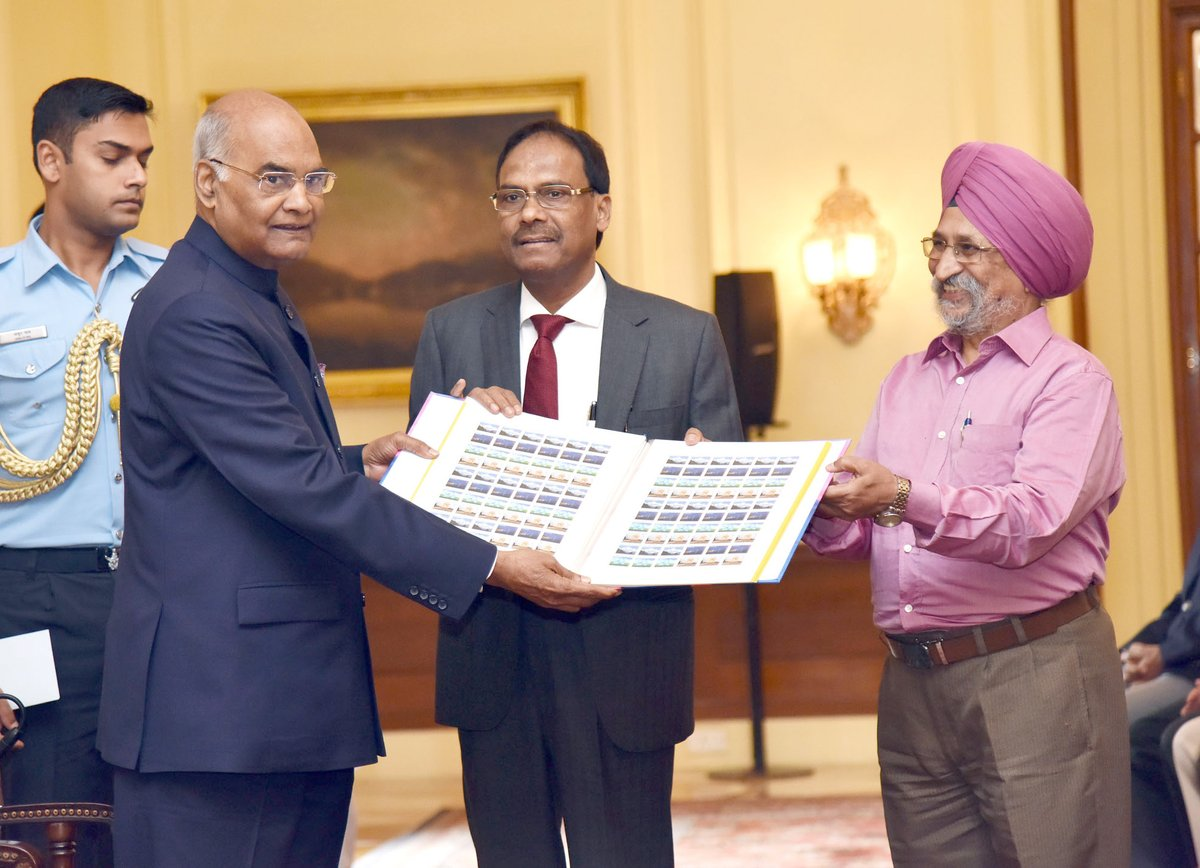 President Ram Nath Kovind launches the 68th TB Seal Campaign of the Tuberculosis Association of India during a programme organised at Rashtrapati Bhavan in New Delhi, on Oct 26, 2017.
