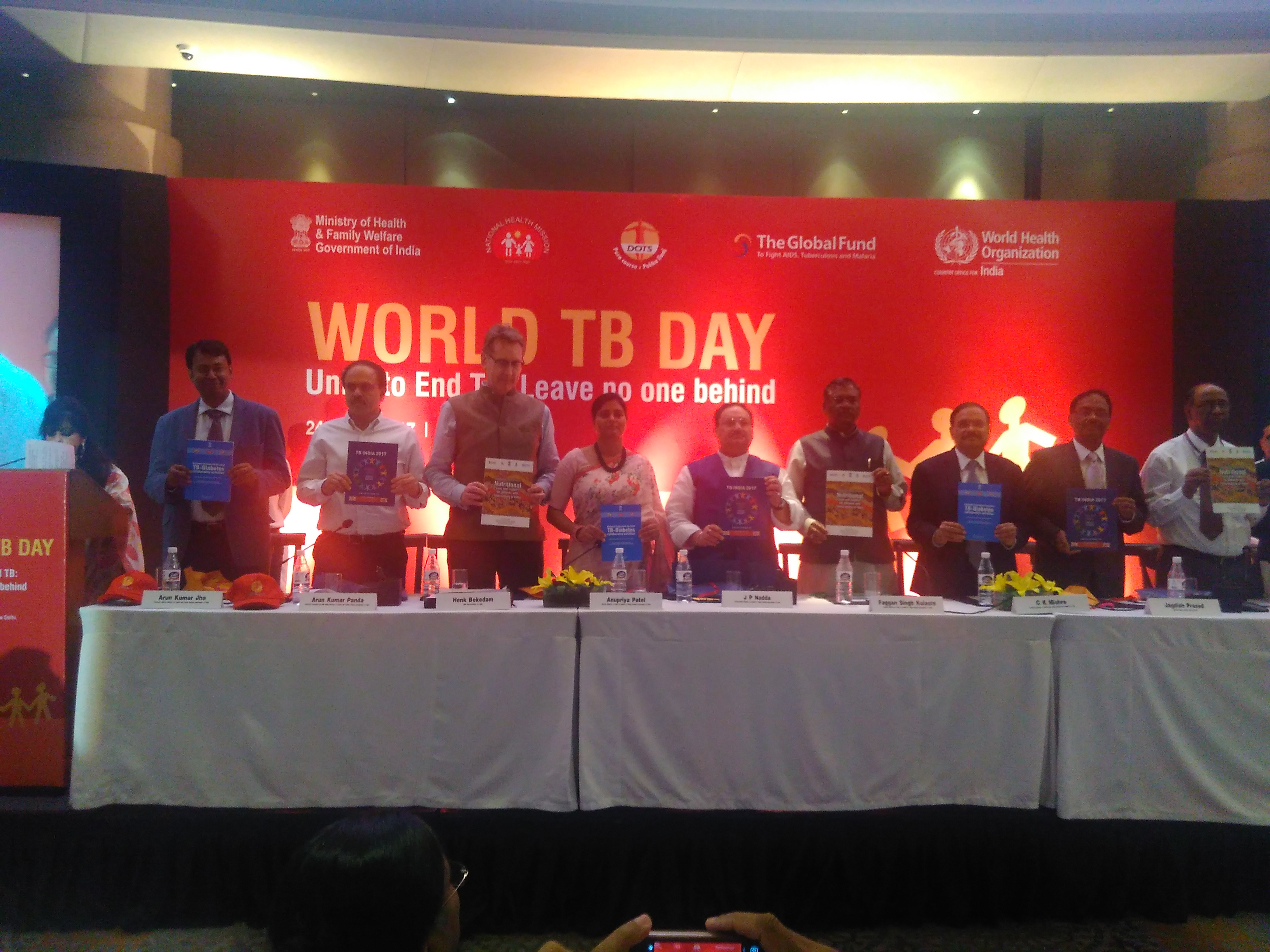 World TB Day 2017 Observation with launch of key initiatives by Hon'ble HFM Shri J. P. Naddaji