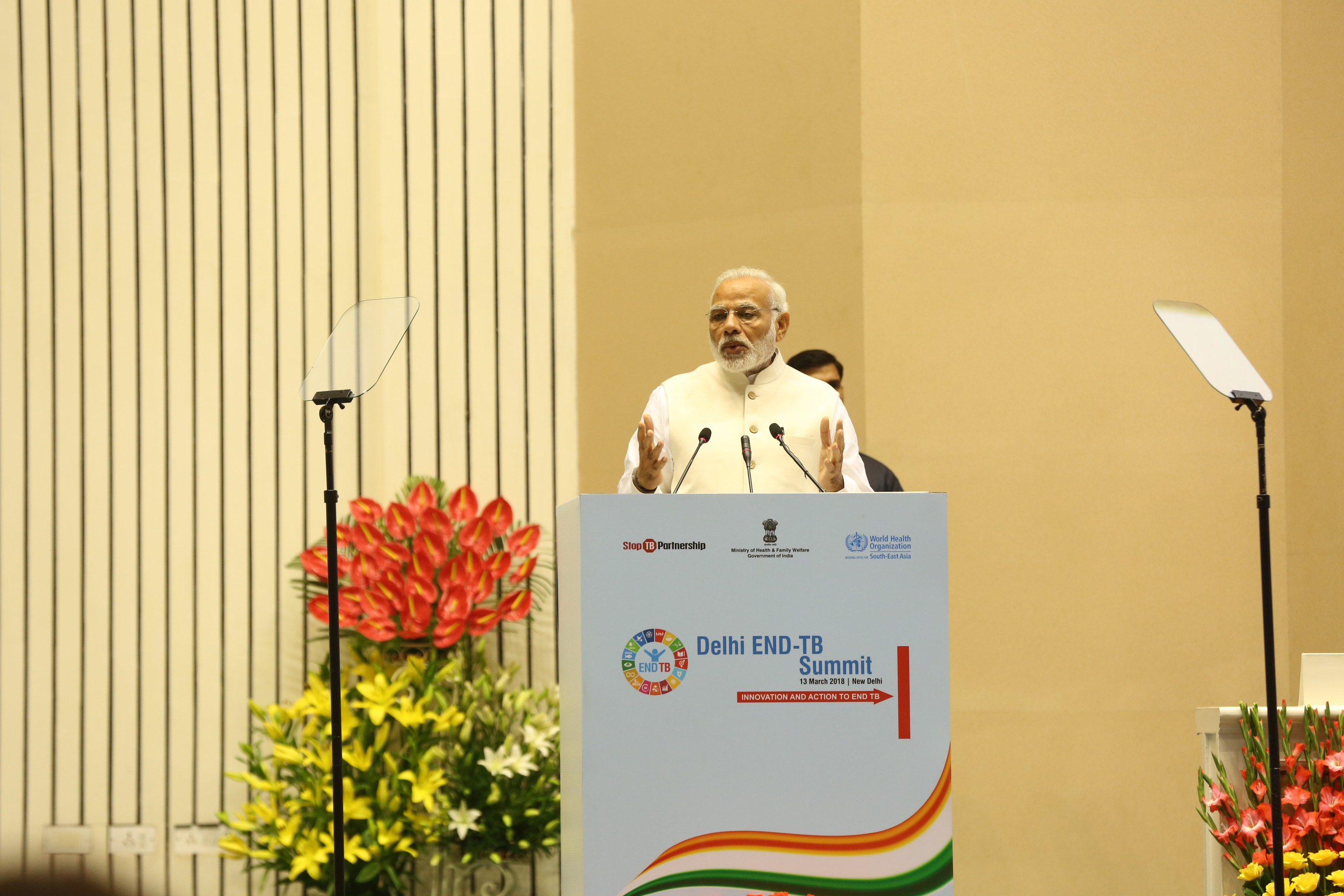 Hon'ble Prime Minister addressing on the occasion of Delhi End TB Summit