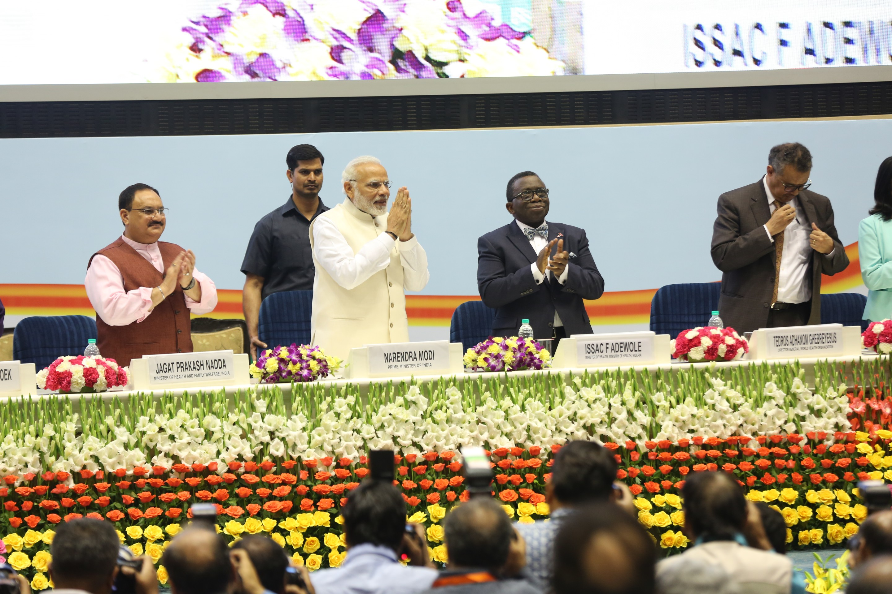 Hon'ble Prime Minister, Minister MoHFW on the occasion of Delhi End TB Summit
