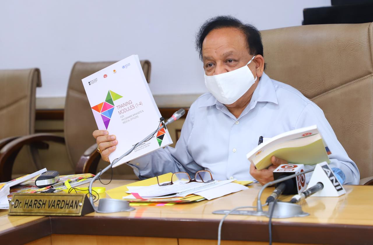 Hon'ble Minister of Health Dr. Harsh Vardhan released Training Manual for Programme Managers and Medical Officers on 24th June 2020