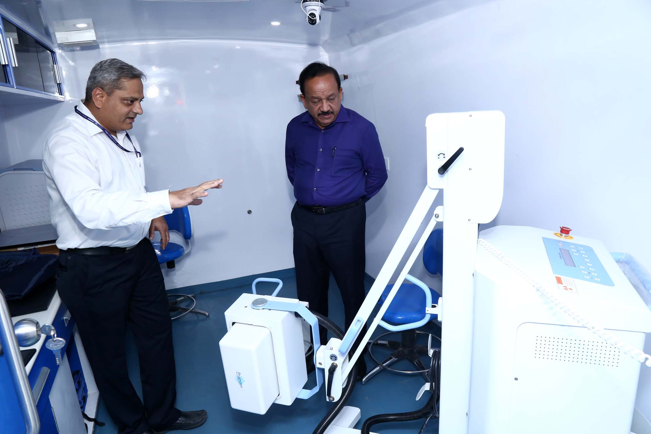 Hon'ble Union Minister of Health and Family Welfare Dr. Harshvardhan Visit to Exhibition Area