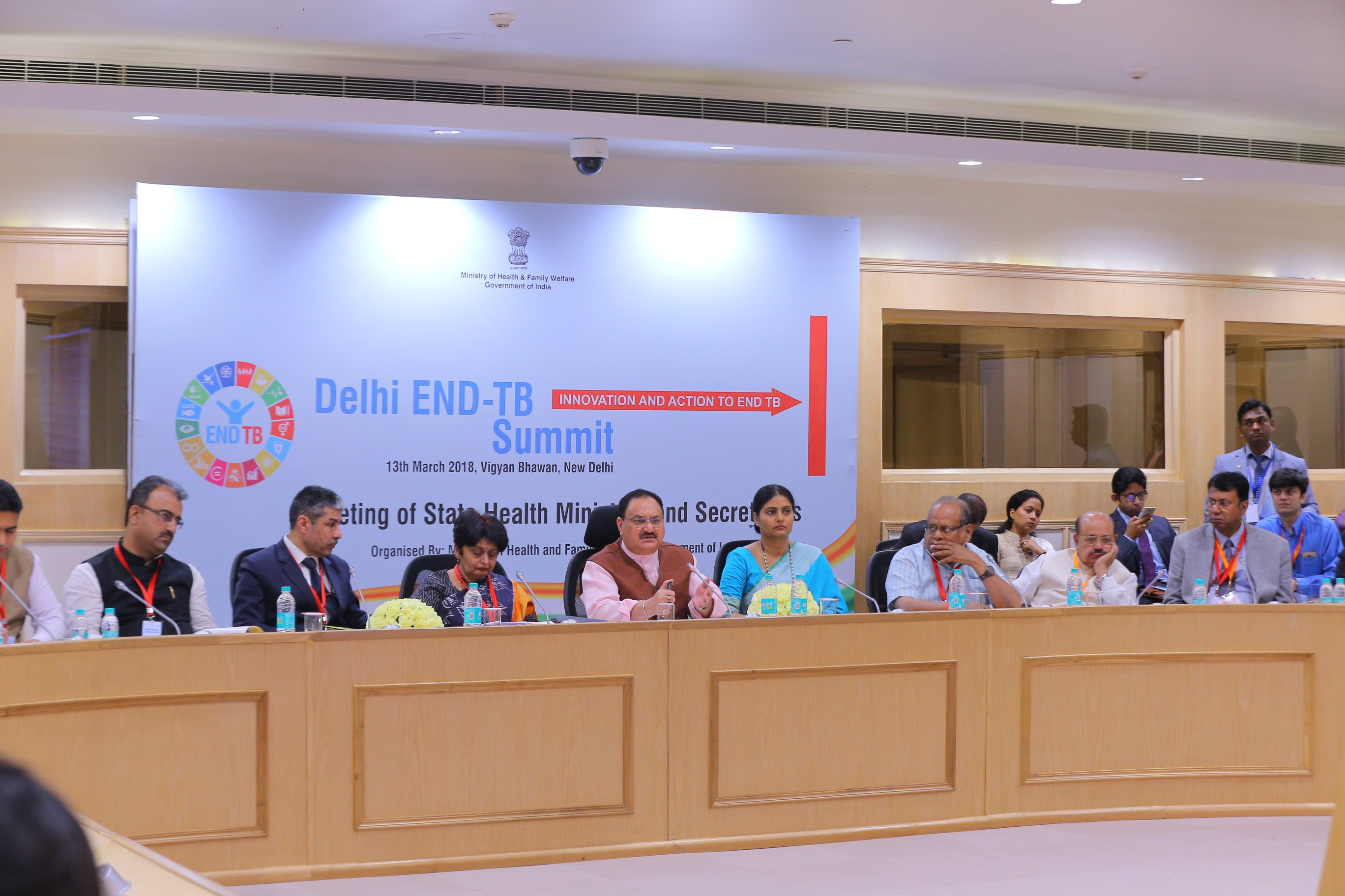 11. Minister MoHFW review the action taken on tuberculosis with State Health Minister in side meetings at Vigyan Bhawan (13th March 2018) 1
